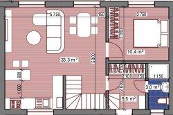 Дом 104 кв.м., участок 3,6 сотки, 60 000у.е.