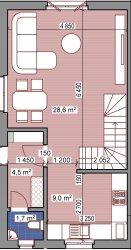 """КГ """"Солнечный Дом"""" Таунхаус 85 кв.м., 2 эт, 1,6 сотки"""