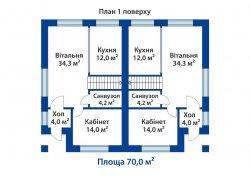 Добротный дуплекс в центре Ирпеня 140 кв.м., 3 эт.