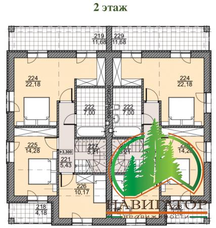 Дуплекс Премиум Класса 200 кв.м., участок 3 сотки