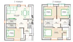 Таунхаус 110 кв.м, 4 комнаты в Ирпене